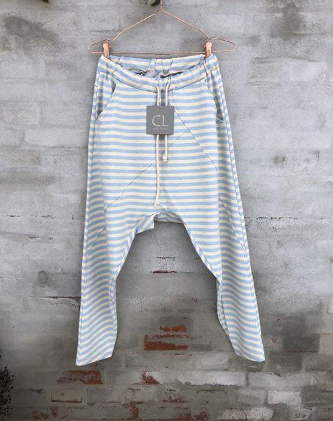 Cabana Living Baggy Pant Stribe Light Blue Stribe