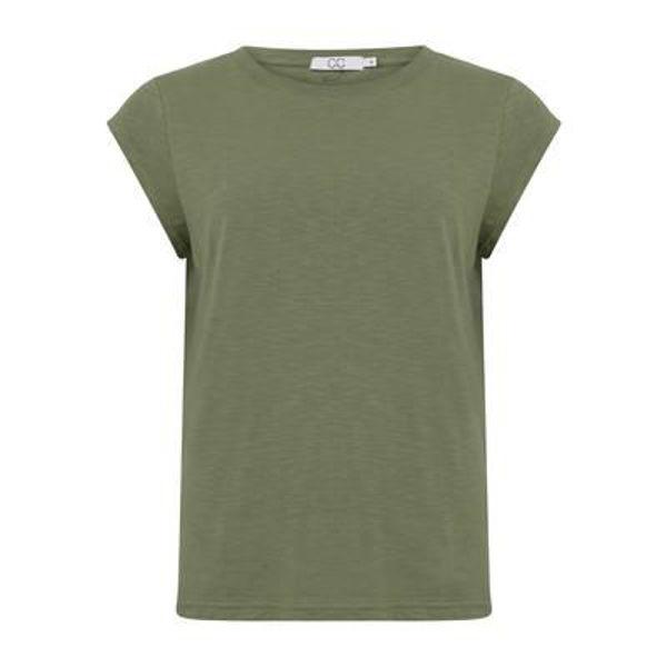 CC Heart T-shirt O Neck Mineral Green