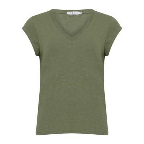 CC Heart T-shirt V Neck Mineral Green