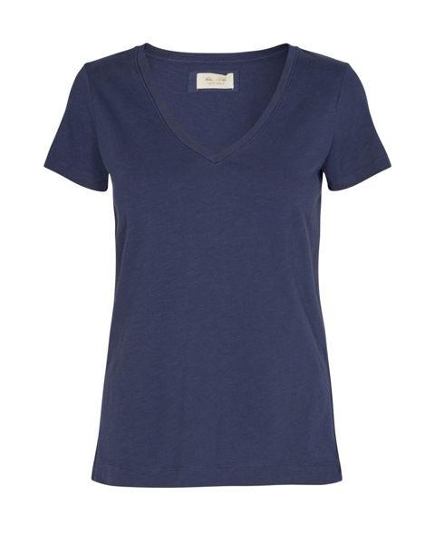 Mos Mosh T-shirt V-neck Arden Organic Navy