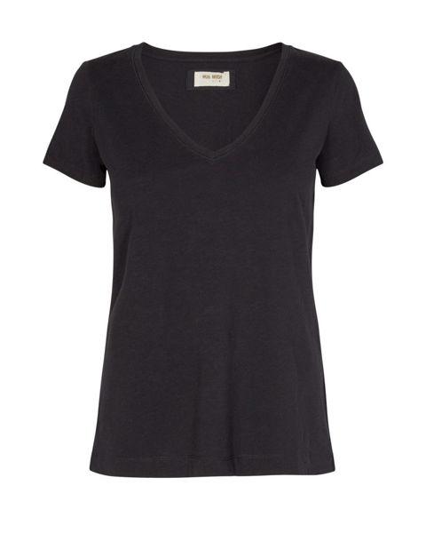 Mos Mosh T-shirt V-neck Arden Organic Black