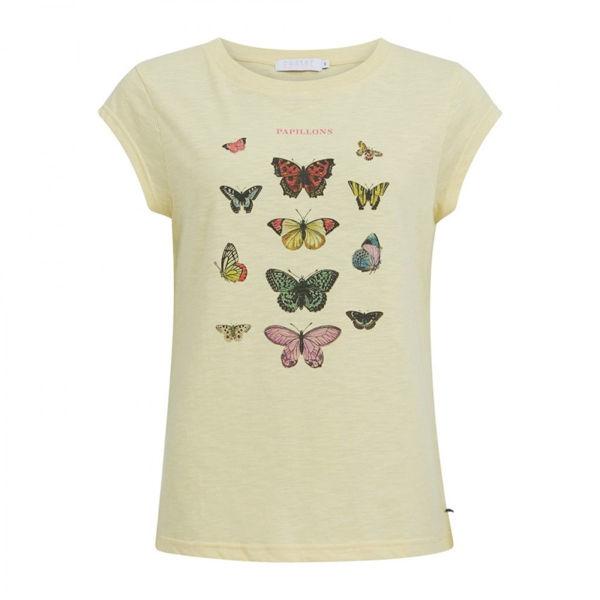 Coster Copenhagen T-shirt Butterfly Light Yellow