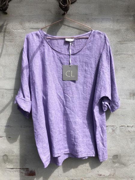 CL Hør Bluse Purple