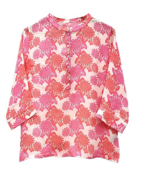 Peace Heart Joy Bluse Sophie Orange Batik