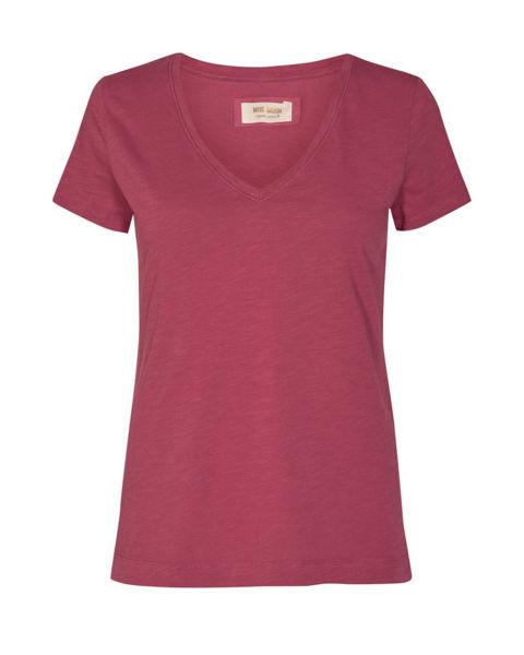 Mos Mosh T-shirt Arden V-Neck Easth Red