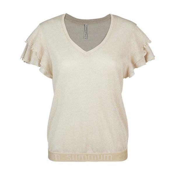 Summum T-shirt Shimmer Gauze Ivory