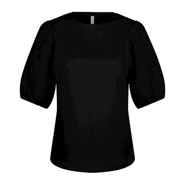 Summum Bluse Broderie Anglaise Black