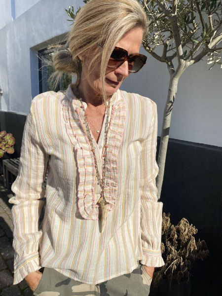 Eva Go Divaa Flora Frill Bluse