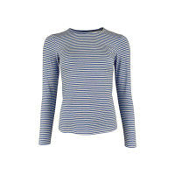 Black Colour Bluse Polly Stripe Blue