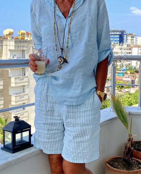 Cabana Living Shorts Stripe Blue