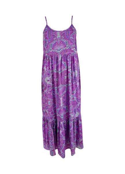 Black Colour Kjole Luna Lavender Paisley