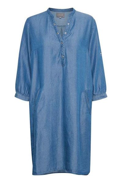 Culture Kjole Mindy Blue Wash