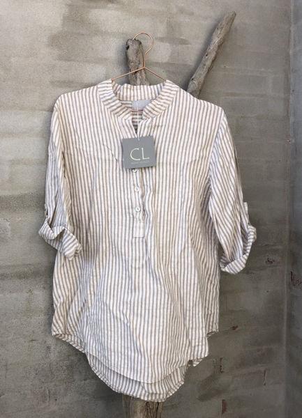 Cabana Living Skjorte Stripe Beige