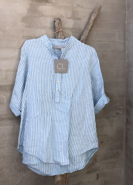 Cabana Living Skjorte Stripe Blue