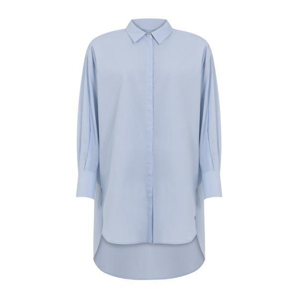 Coster Copenhagen Skjorte Oversized Oxford Blue