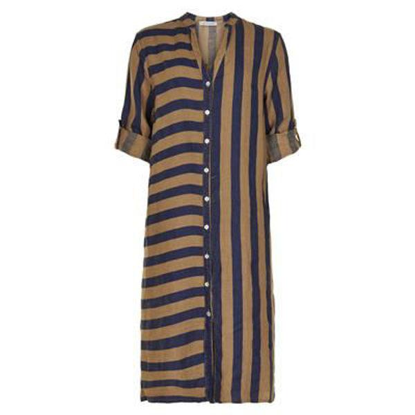 Infront Skjorte Kjole Lino Long Camel