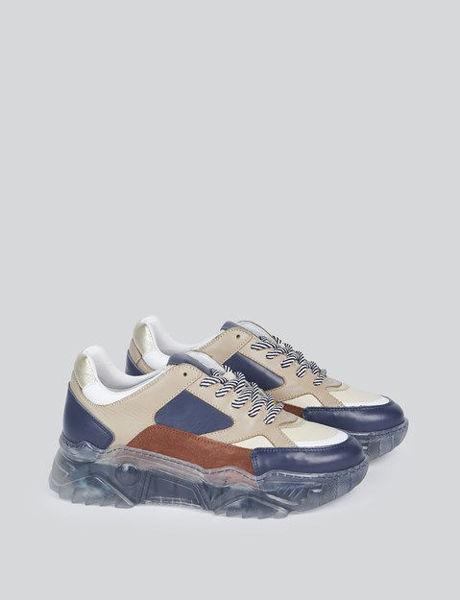 Summum Sneaker Transparant Sole Navy