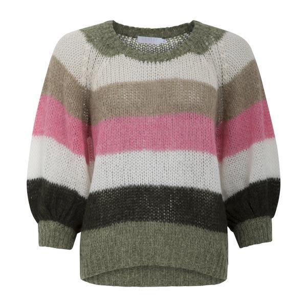Coster Striped Sweater Med Ballon Ærmer
