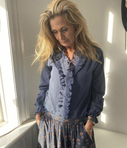 Eva Go Diva Bluse Petra Blue Stripe