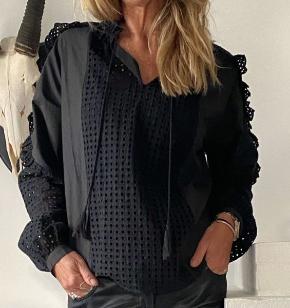 Eva Go Diva Bluse Tilde Black