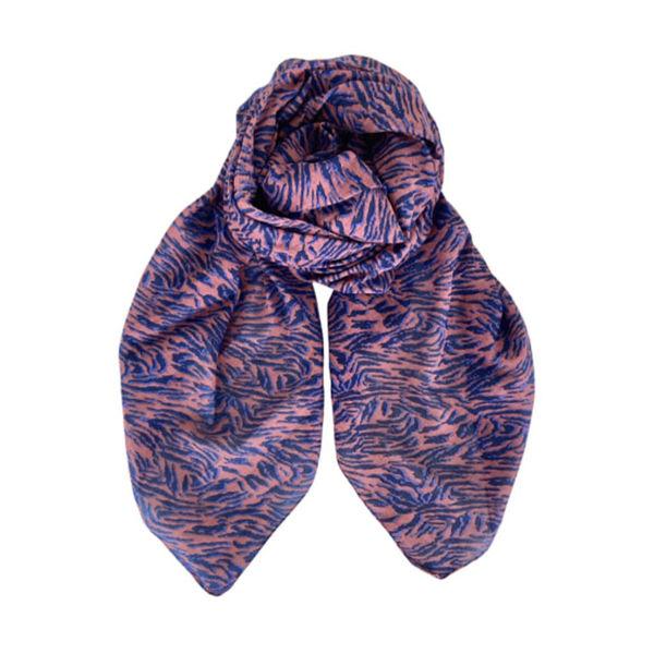 Black Colour Tørklæde Nikita Lilac/Blue