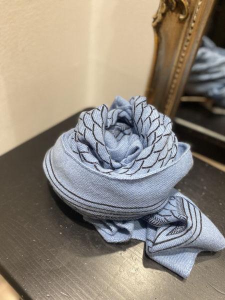 Gauge & Ply Tørklæde Gaia Ocean Blue